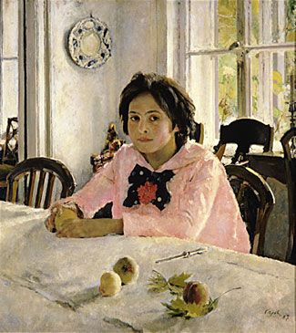Valentin Serov, The girl with peaches, 1887