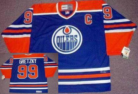 0b2665666fd Edmonton Oilers Mens Jersey 99 WAYNE GRETZKY Blue 1987 CCM Vintage  Throwback Away NHL Hockey Jersey.
