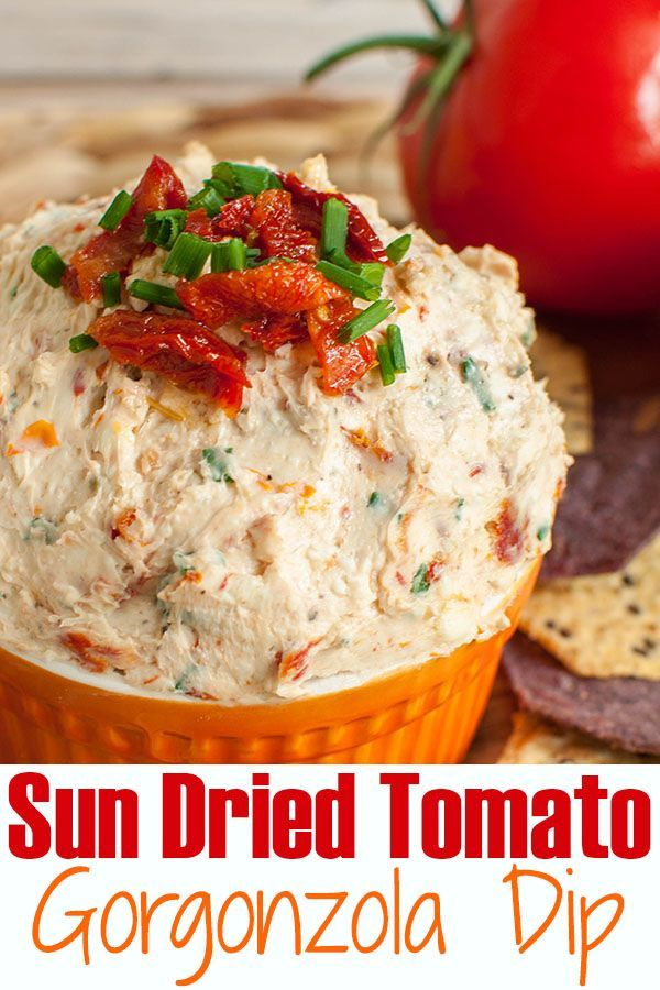 Photo of Sun Dried Tomato Gorgonzola Dip