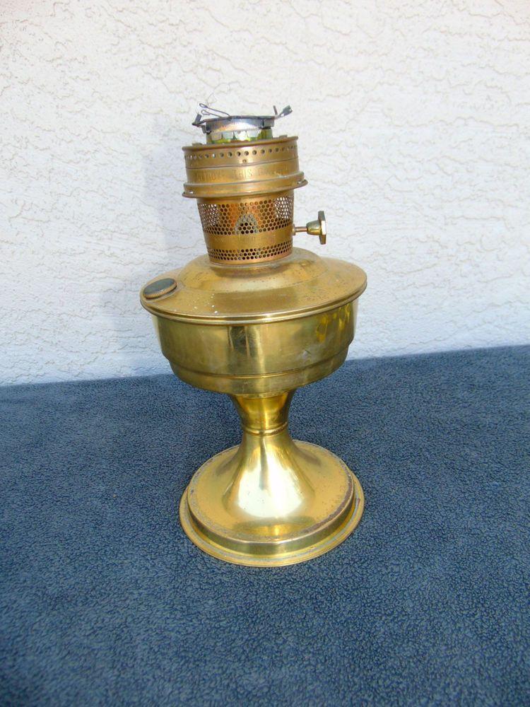 Antique vintage brass aladdin kerosene oil lamp model 23 ...