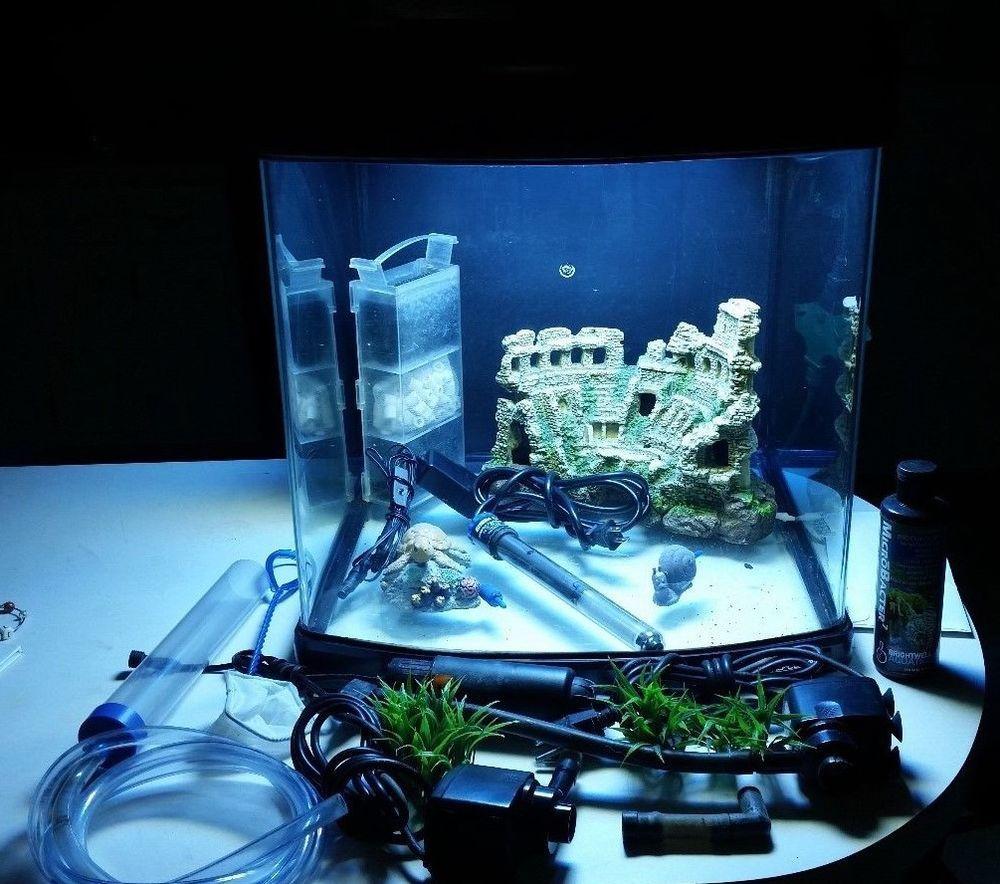 Jbj Nano Cube 28 Gallon Pro Aquarium Coral Fish Tank Mt 601 Led Fishtank Aquariums Coral Fish Tank Fish Tank Aquarium