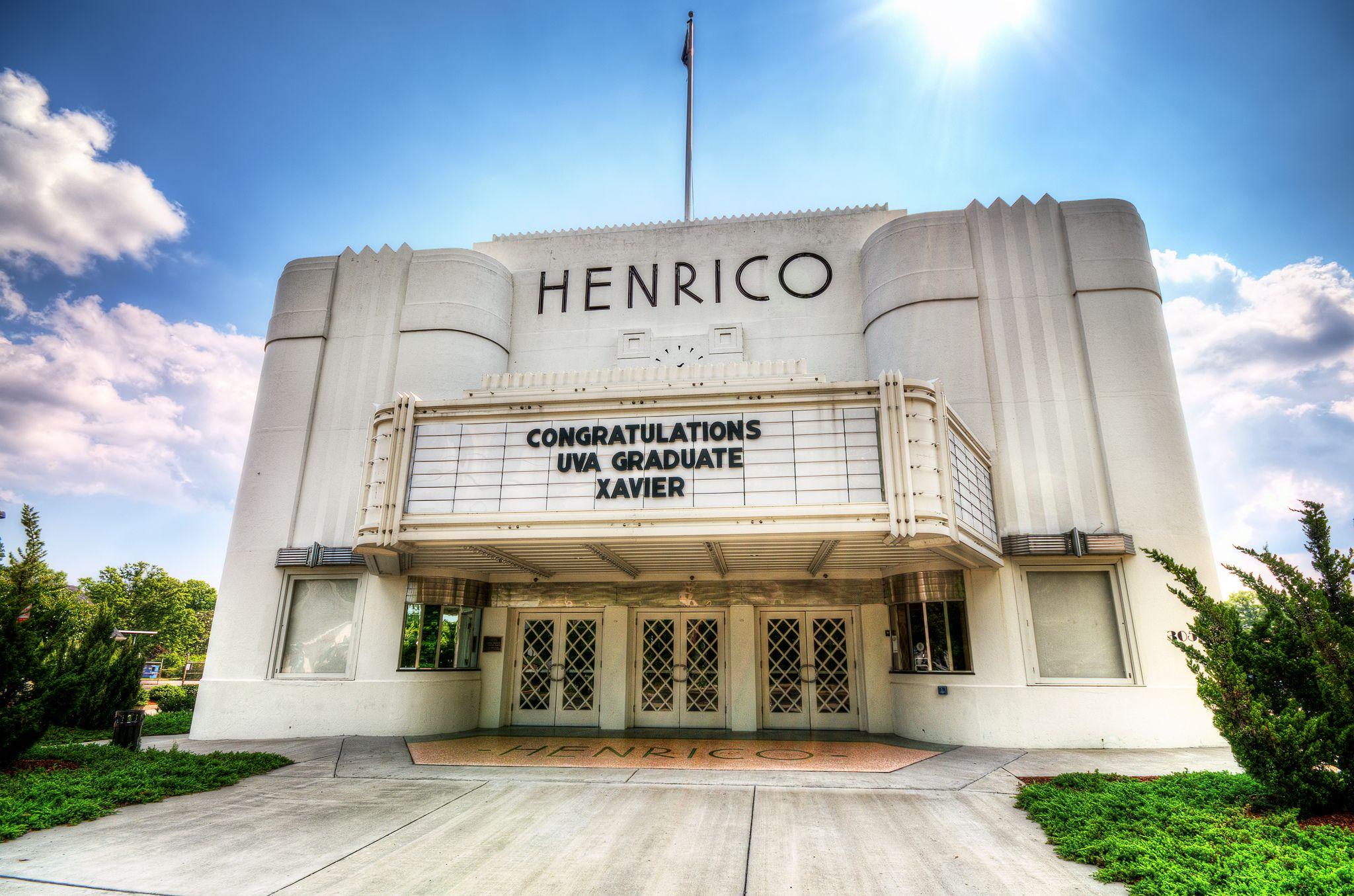 https://flic.kr/p/c8KkS9 | Henrico - art deco theater | Highland Springs, Virginia | The Henrico Theatre was built in 1938, designed by architect Edward Francis Sinnott.