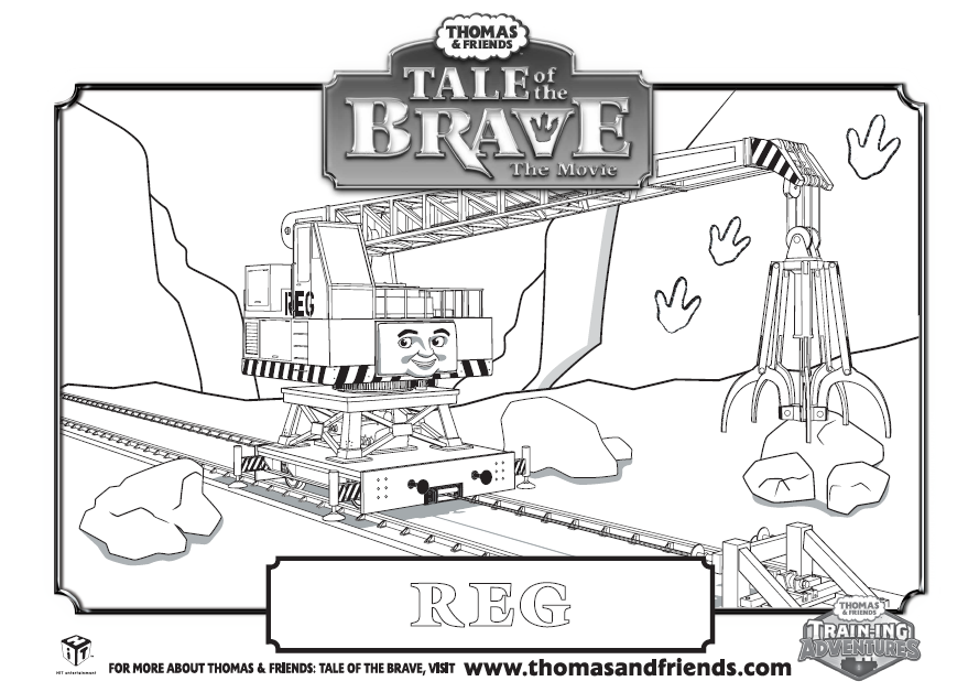 Thomas Friends Tale Of The Brave Reg Colouring In Picture Find
