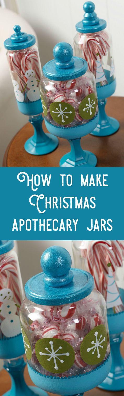 How to Make Christmas Apothecary Jars on a Budget   Diy christmas gifts dollar tree, Christmas ...