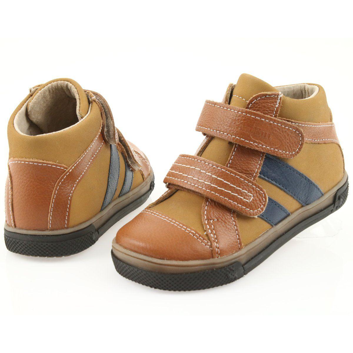 Trzewiki Buty Dzieciece Na Rzepy Ren But 3225 Rudy Granat Brazowe Granatowe Sepatu Anak Sepatu Anak