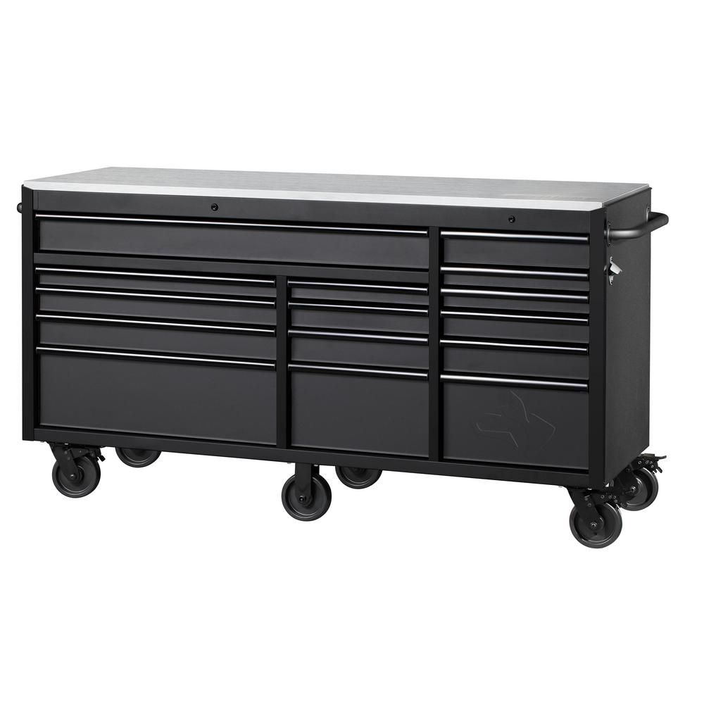 Husky Heavy Duty 72 In W X 24 In D 15 Drawer Tool Chest Mobile