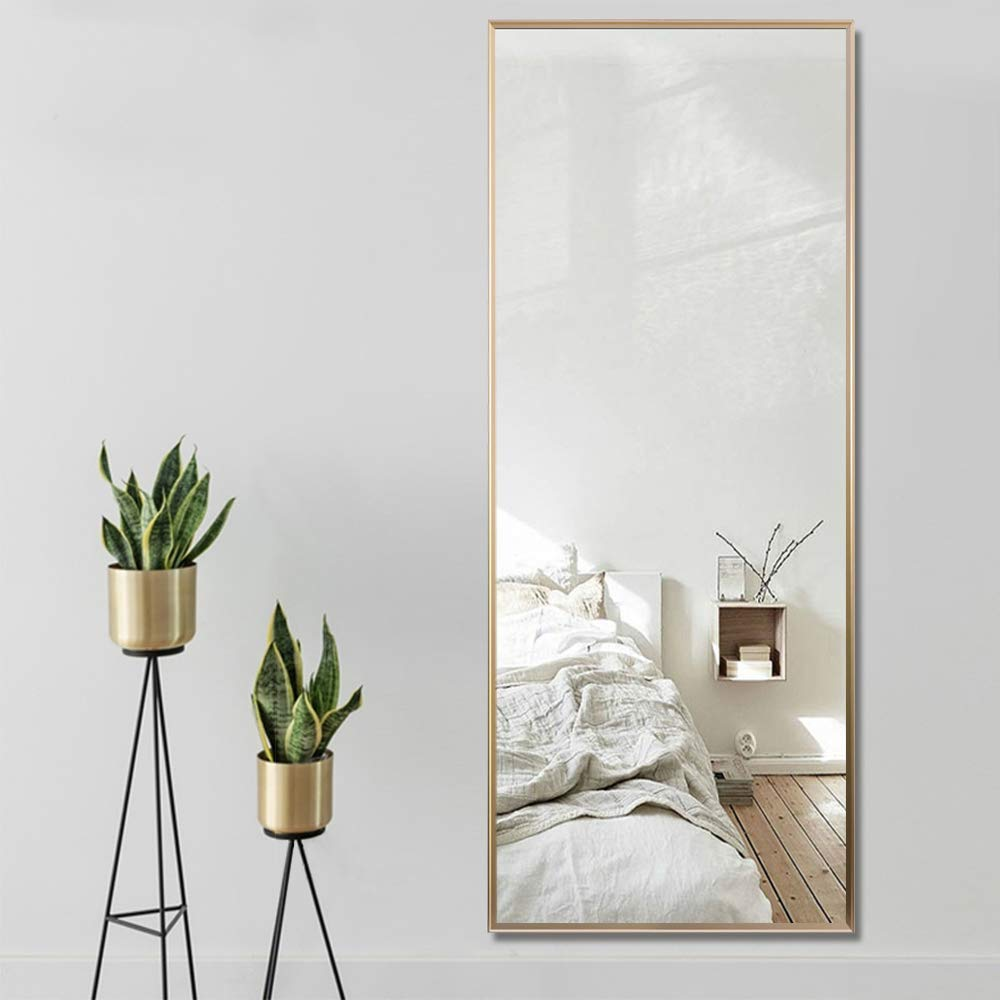 Amazon Com Neutype Full Length Mirror Floor Mirror With Standing Holder Bedroom Locker Room Standing Hanging M Wall Decor Bedroom Hanging Mirror Small Bedroom