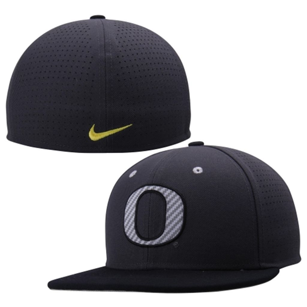 0b39c003 Oregon Ducks Nike Dri-FIT Vapor True College Authentic Baseball Fitted Hat  - Anthracite