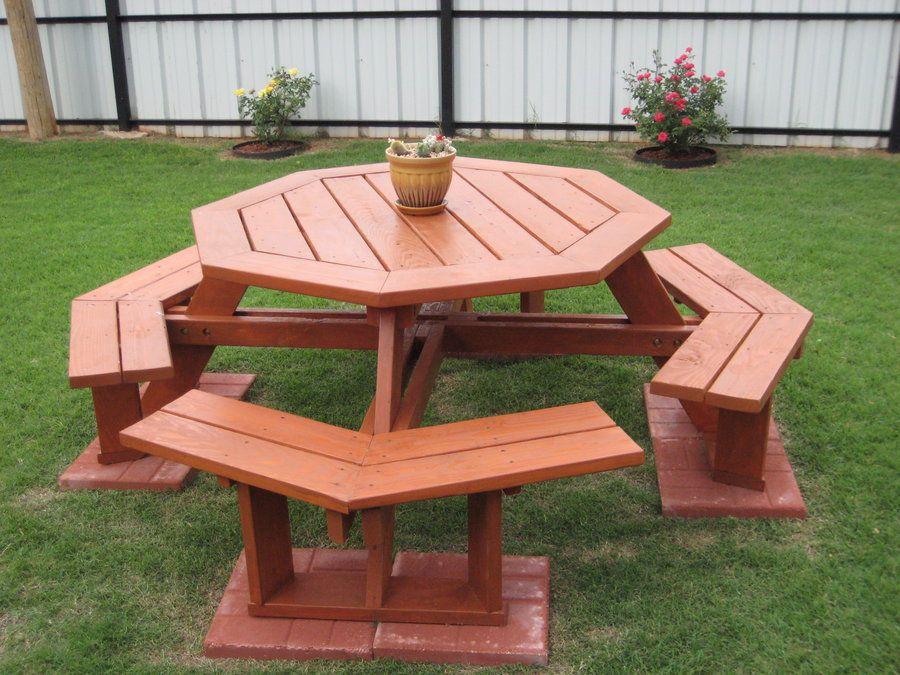 Octagonal Picnic Table By Deucefour Lumberjocks Com Woodworking Community Mesa De Piquenique Moveis De Paletes Moveis De Madeira