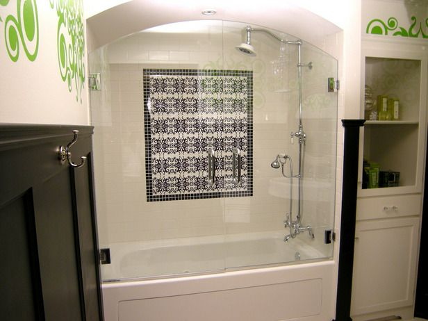 curved soffit in a shower surround - Shower Surround