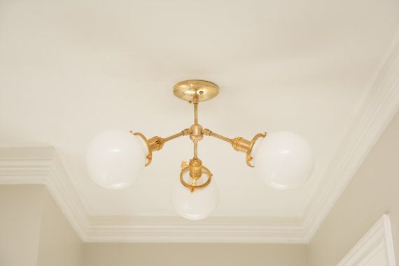 Gold Chandelier Light Modern Hanging Mid Century