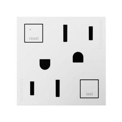 Legrand Adorne 15 Amp 125 Volt Tamper Resistant Gfci Duplex Outlet White Agftr152w4 Electrical Outlets Amp