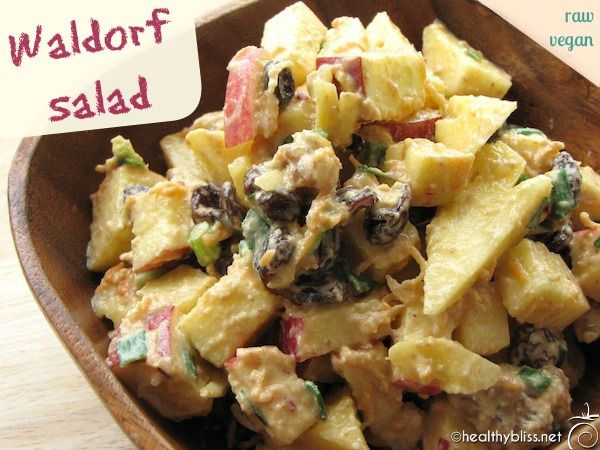 Raw food recipe delicious waldorf salad this can be eaten as a raw food recipe delicious waldorf salad this can be eaten as a healthy filling breakfast or a nice tasty lunch if you want to serve for dinner forumfinder Images