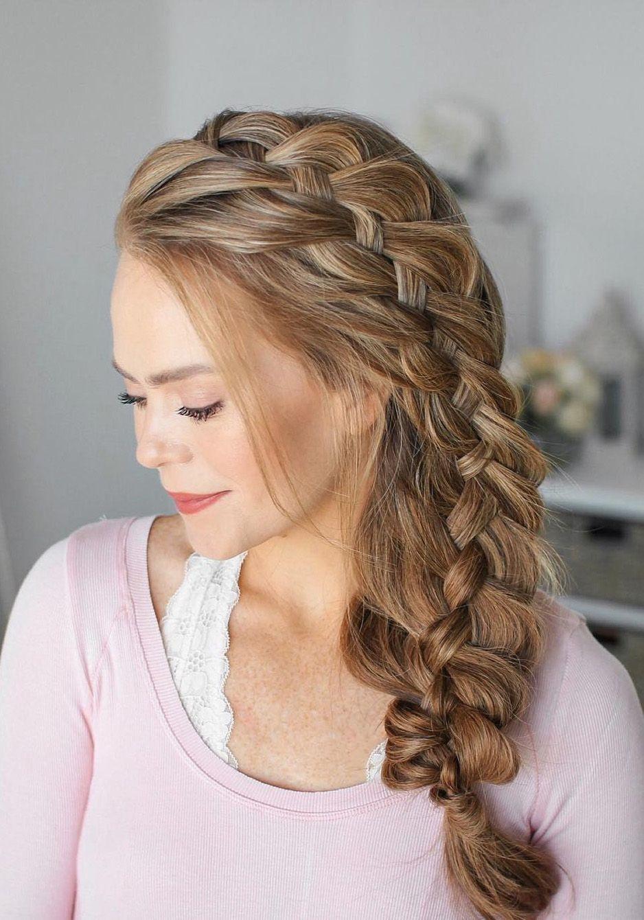 Extreme Gorgeous Woven Braids Ideas For This Winter Hairminia Medium Hair Styles For Women Stylish Hair Hair Styles