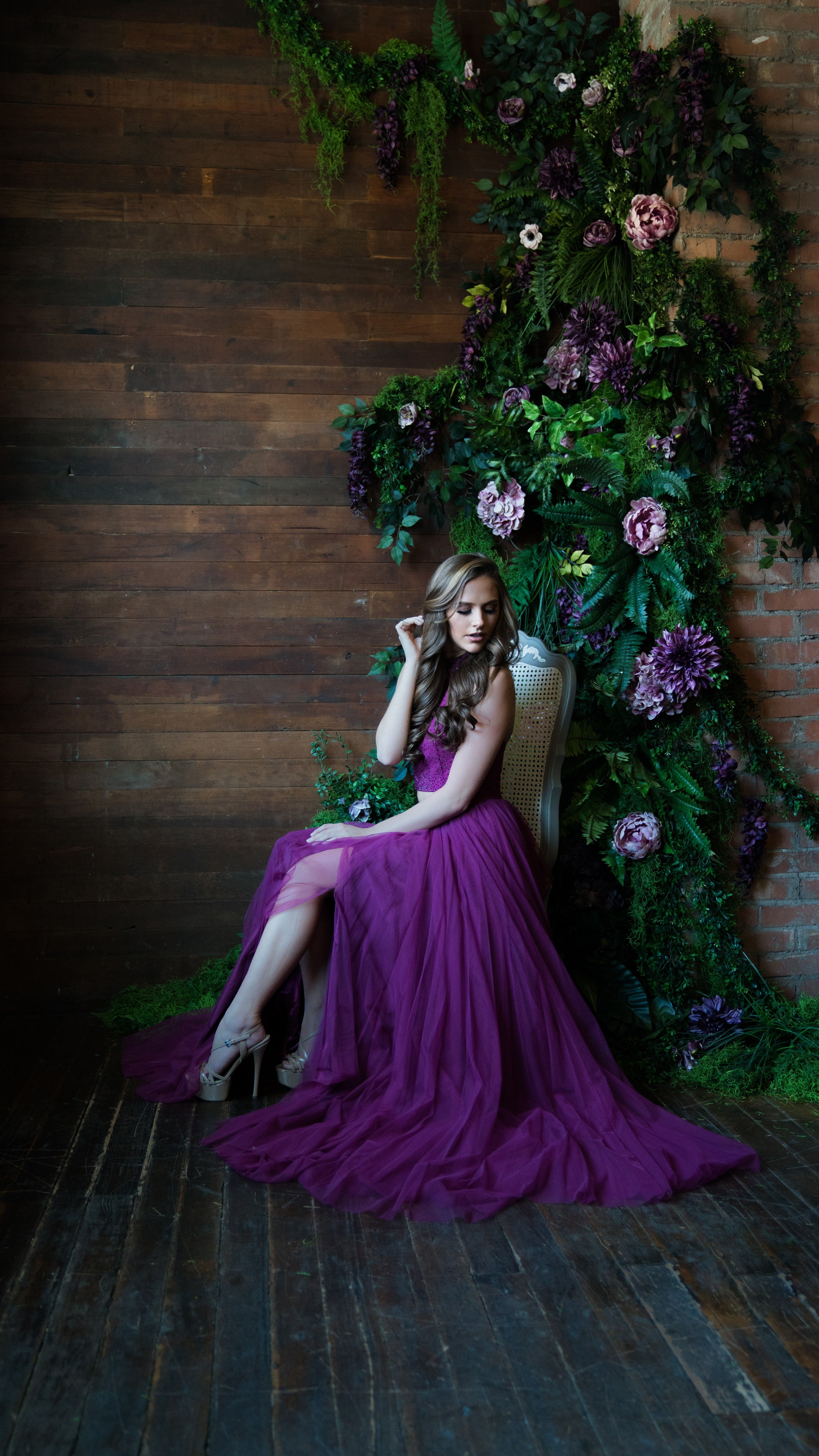 SHERRI HILL 51721 Spring 2018 Collection YPSILON DRESSES Purple Chiffon 2  Piece Prom Pageant Cocktail Party Dress Homecoming Sweethearts School Dance  ... 69390c2c7