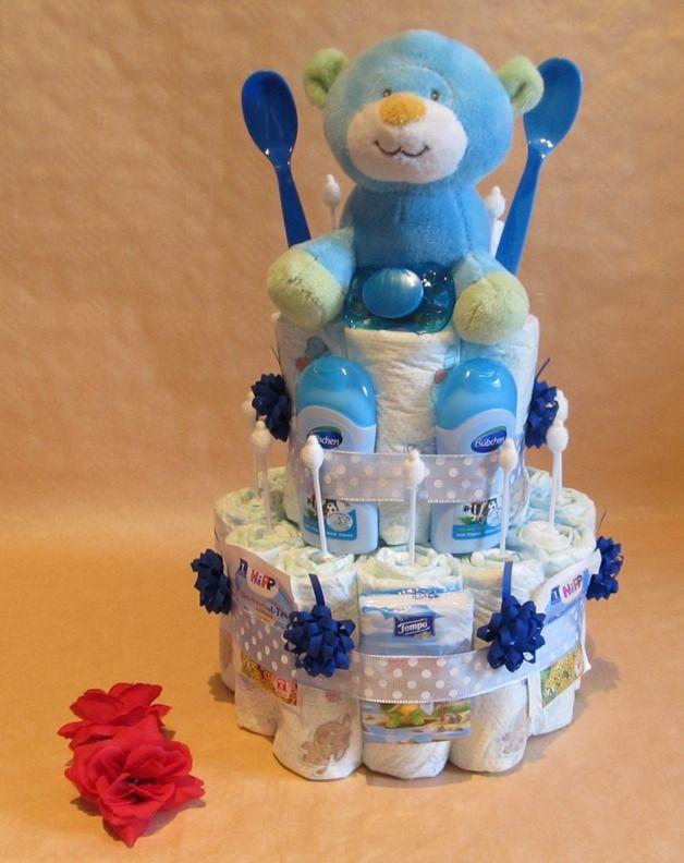 babyparty geschenke deko baby waschlappen lolipops selber machen, Innenarchitektur ideen