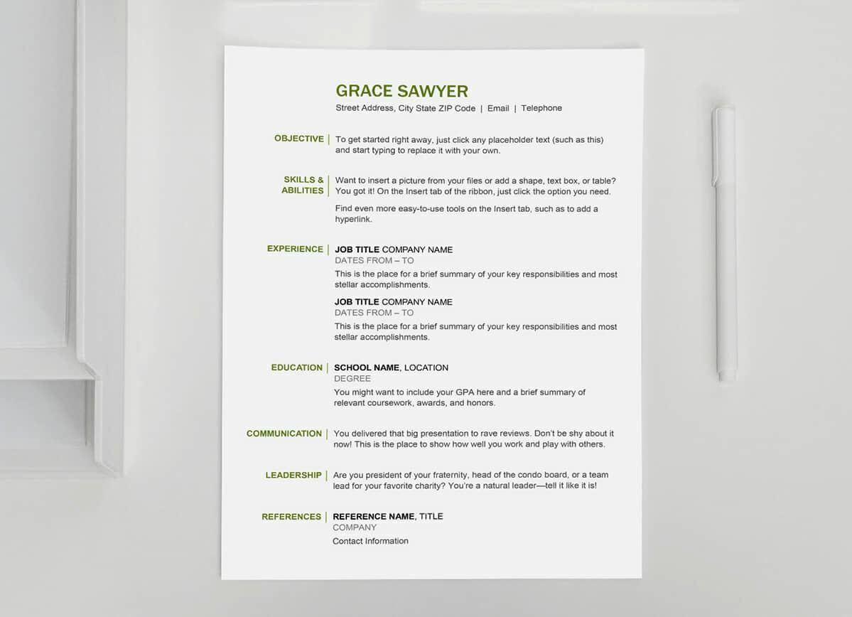 basic resume template free best of basic resume templates