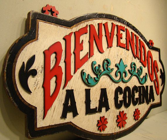 Bienvenidos cocina spanish decoration kitchen decor