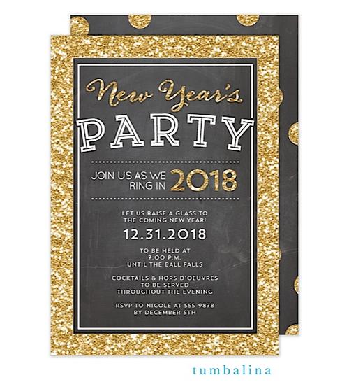 Shimmering Chalkboard Holiday Invitation Zurianas Elegant Occasions Chalkb New Years Eve Invitations Party Invite Template Birthday Party Invitation Wording