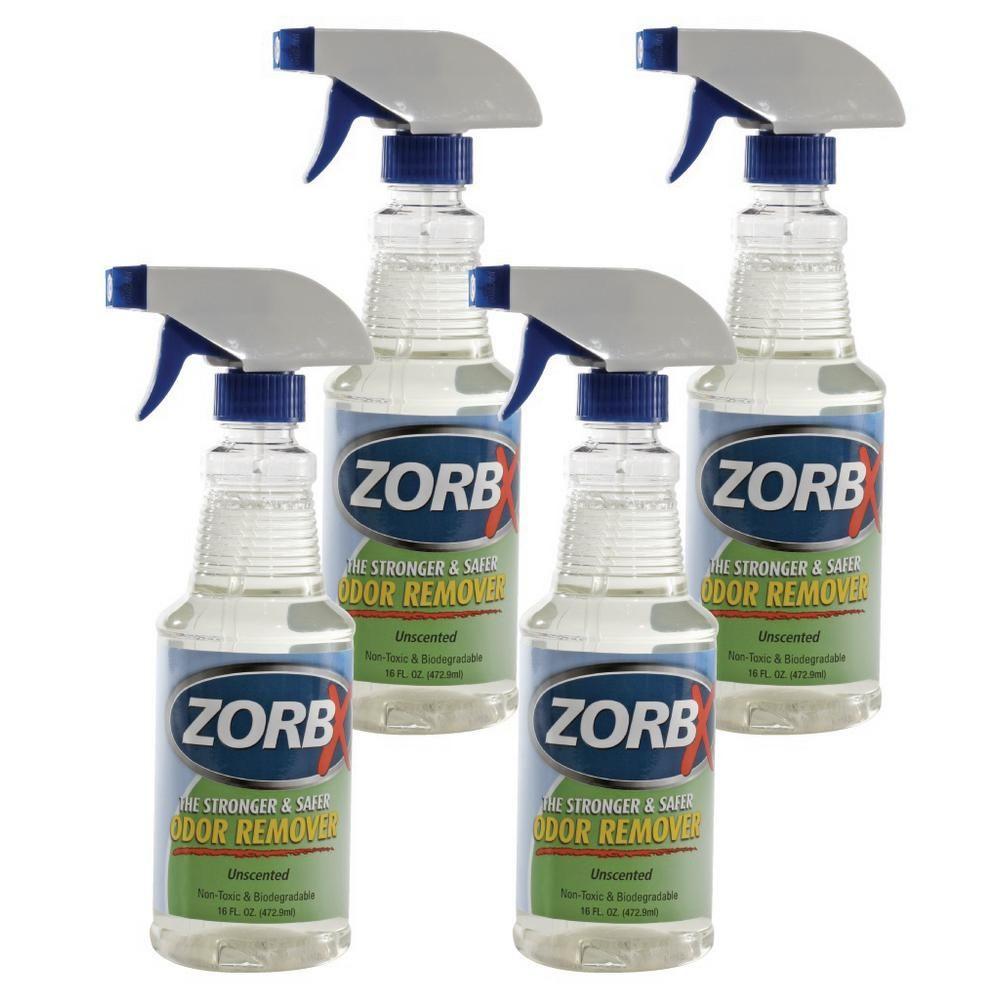 Zorbx 16 oz. Unscented Odor Remover (4Pack) Odor