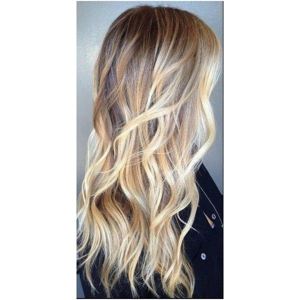 The In Between Bronde Hair Color Liked On Polyvore Featuring