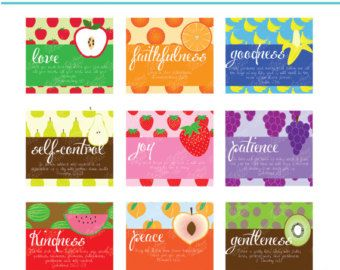 Fruit Of The Spirit Christian Cards Diy Printables Fruit Of The Spirit Fruits For Kids Christian Cards