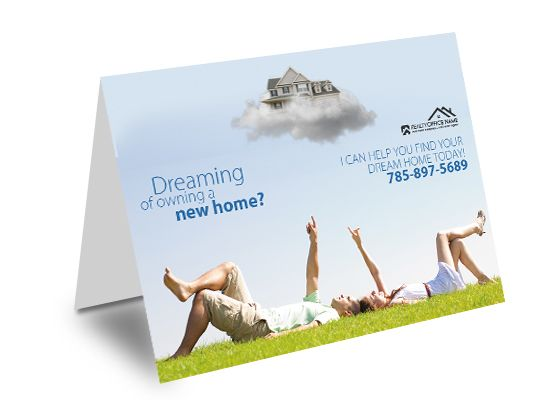 Real Estate Greeting Cards Creative Real Estate Greeting Card - greeting card templates