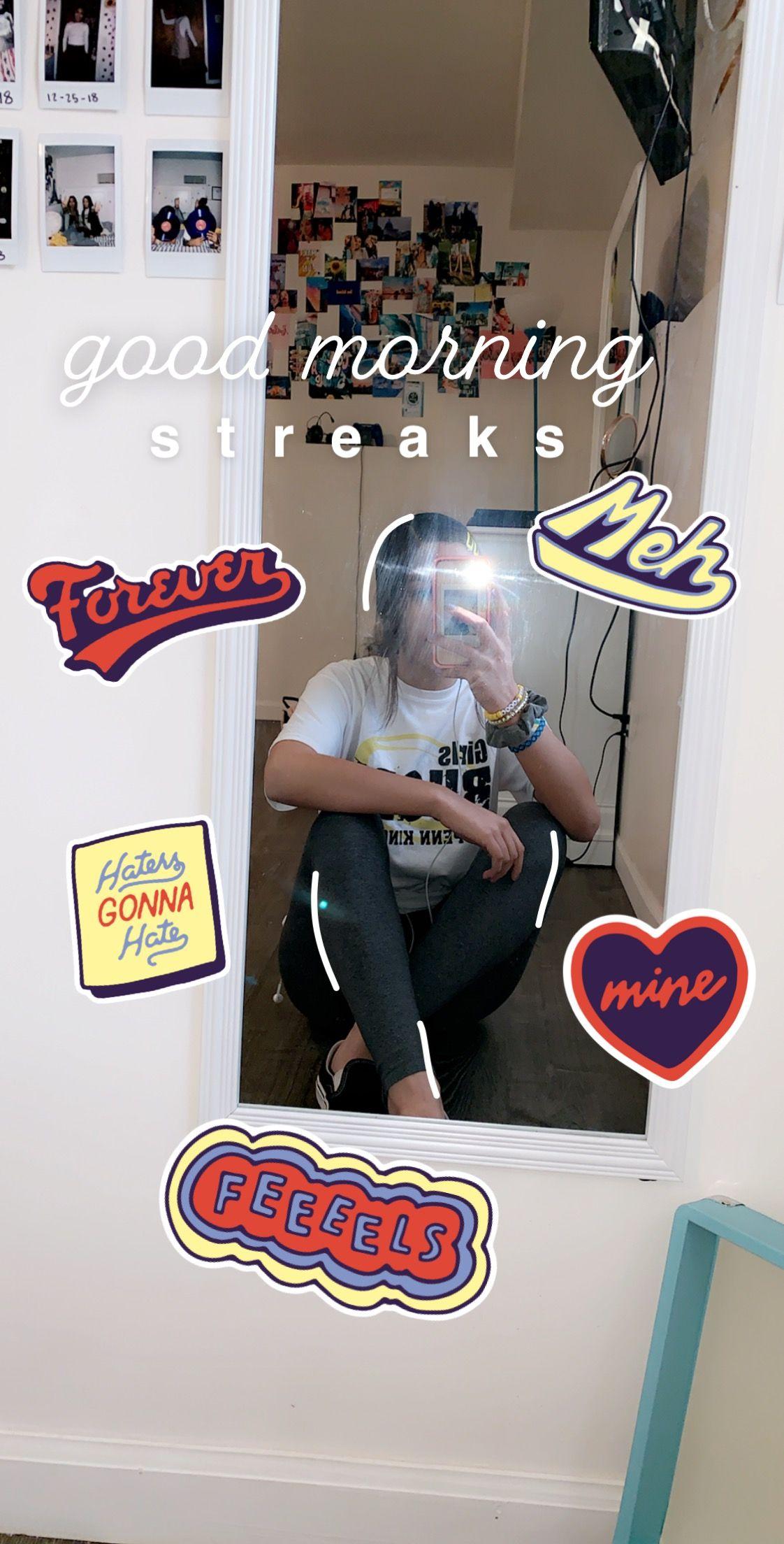 morning #goodmorning #streaks #snapchat #mirrorselfie   m e