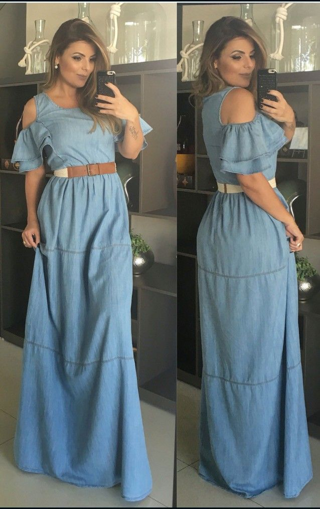 Vestido longo para o verao 2018