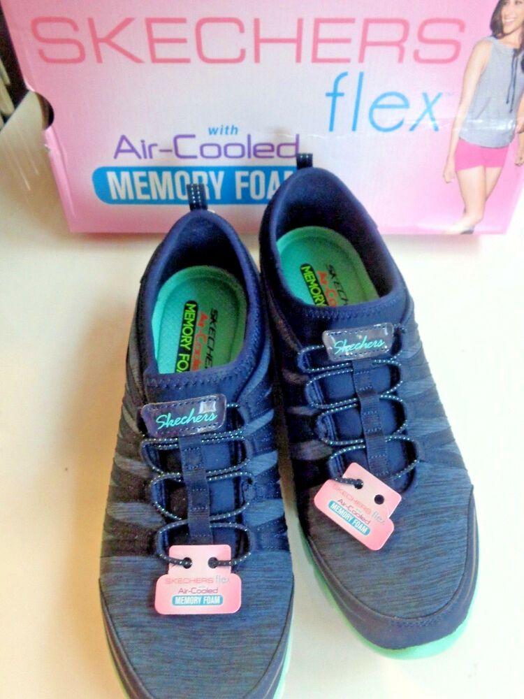 Details About Skechers Burst Air Cooled Memory Foam Slip On
