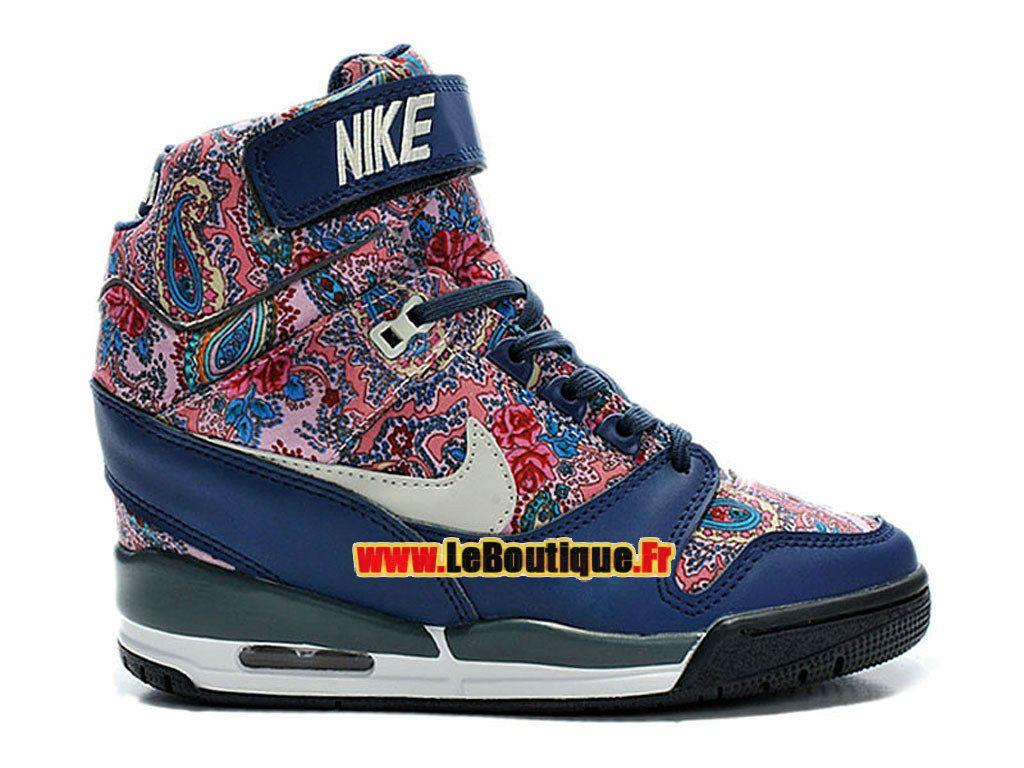 Nike Air Revolution Sky Hi Liberty London QS - Chaussure Montante Nike Pas Cher Pour Femme Marine arsenal/Brun vachette/Noir/Marine 632181-402