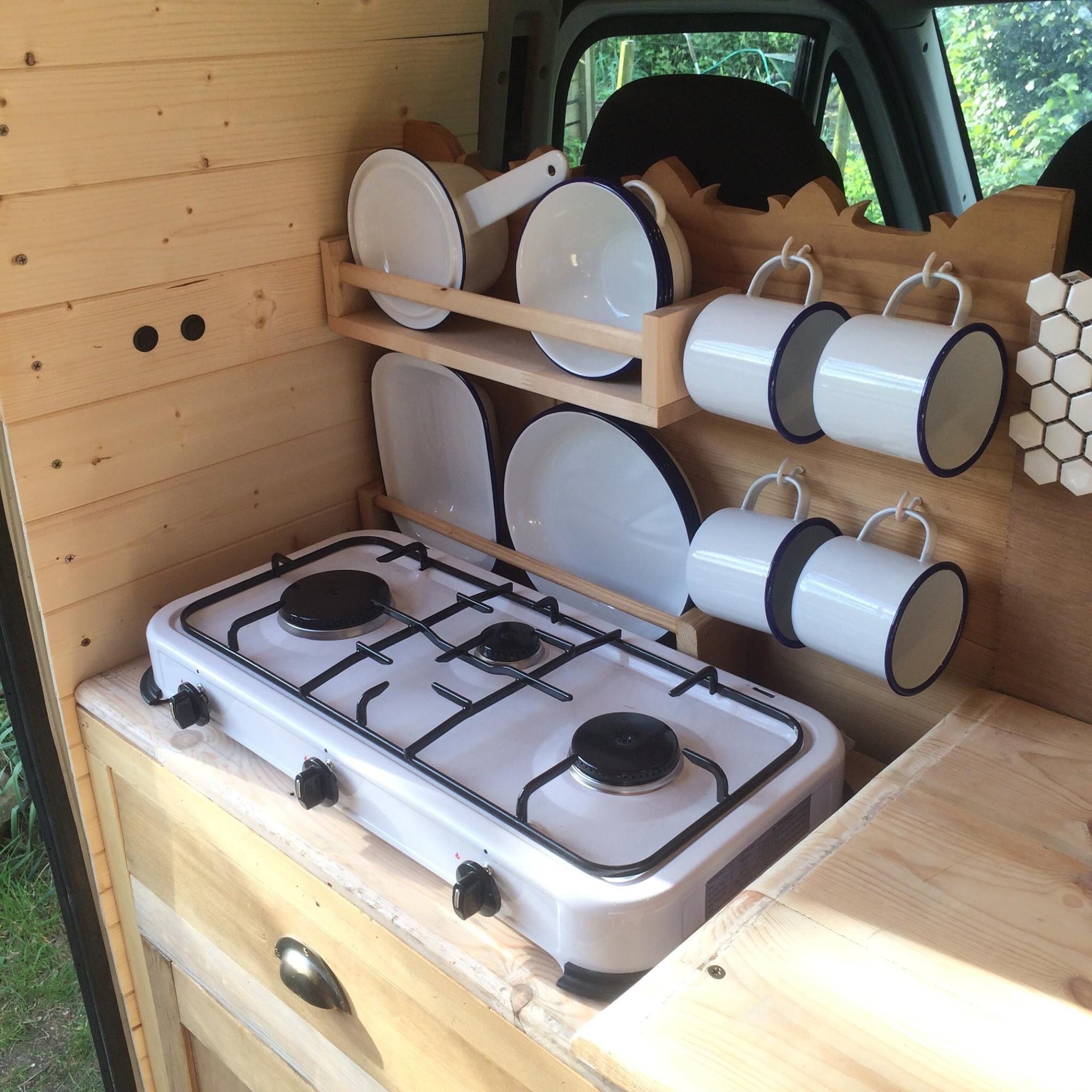 Photo of Self-made mobile home kitchen dresser