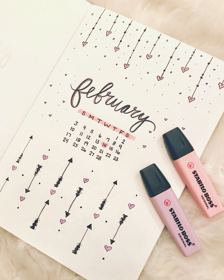 "⠀⠀⠀⠀⠀⠀⠀⠀⠀⠀⠀⠀⠀ѕтєρнαиιє 🎀ℓσνє on Instagram: ""Starting early with February's bullet journaling! Lots of hearts because I could use a little extra love next month! 💕Happy Planning! . . .…"""