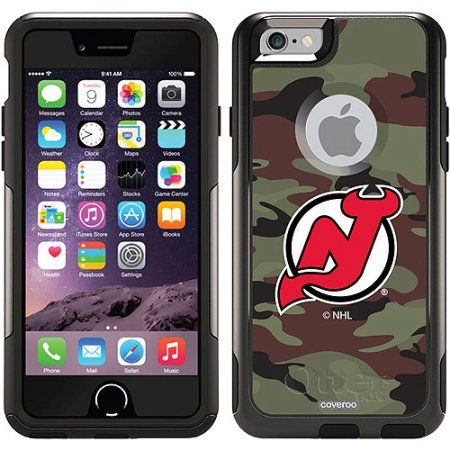 New Jersey Devils Traditional Camo Design on OtterBox Commuter Series Case for Apple iPhone 6
