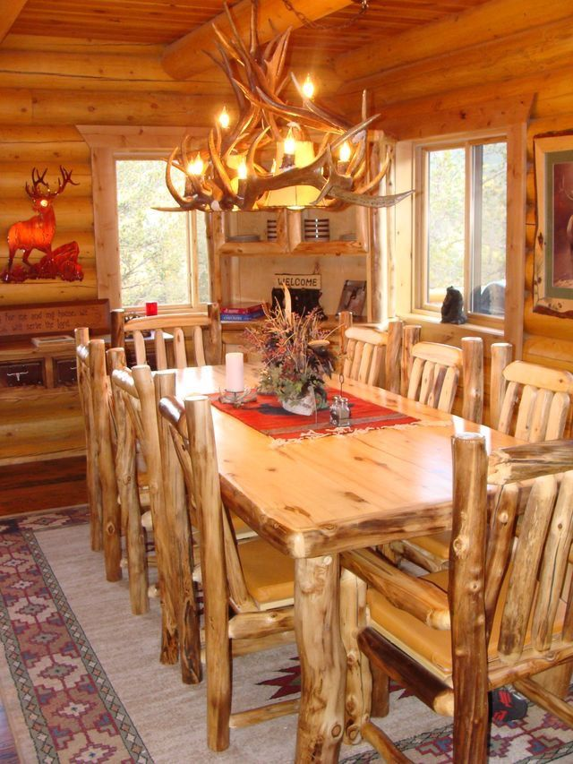 Lang Log Homes Green Mountain Falls Co Log Cabin Living Log Homes Dining Table