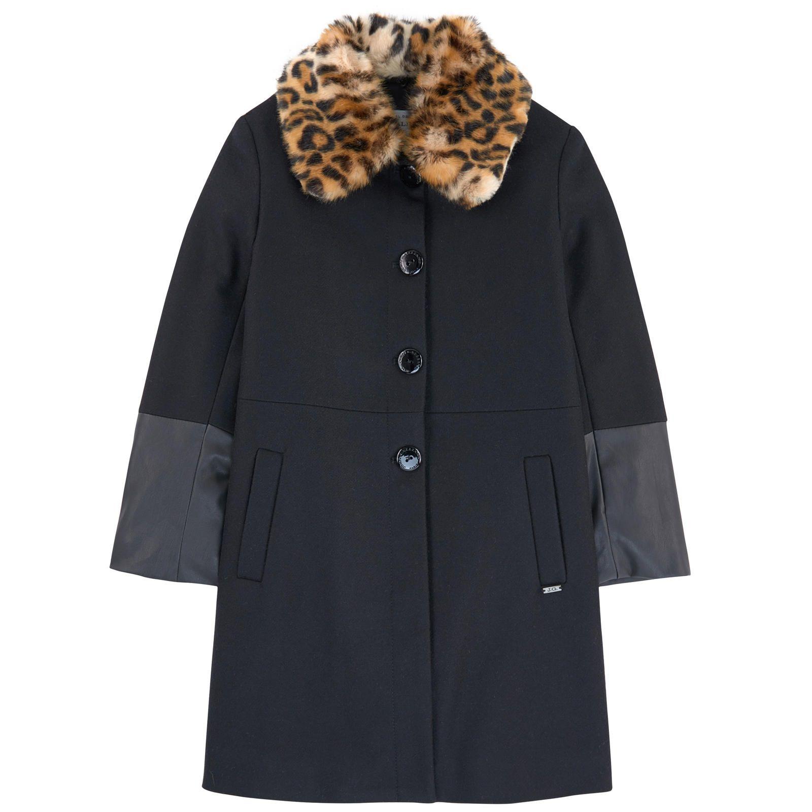 texture nette comparer les prix vente énorme Manteau en drap de laine et fausse fourrure John Galliano ...