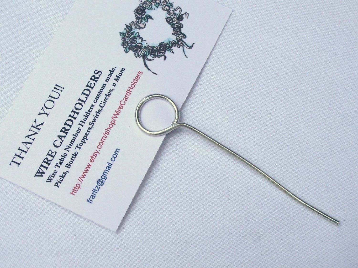 30 Mini Round Wire wedding place card photo table number holders ...