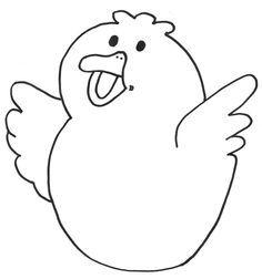 Kleurplaat Kip Google Zoeken Pasen Lente Pinterest Easter