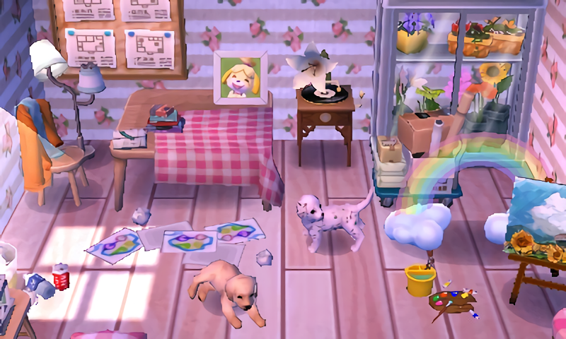 Room Inspiration Rainbow Mess Animal Crossing Animal Crossing Qr Room Inspiration