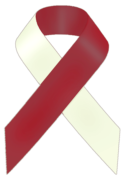 Red And White Awareness Ribbon Awareness Ribbons Red And White Squamous Cell Carcinoma