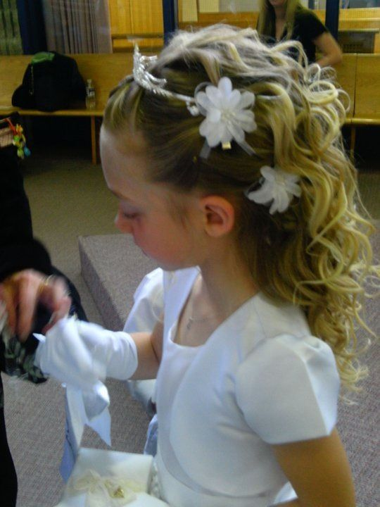 Communion Hair Updo Flowers Life Is About Fabulous Hair