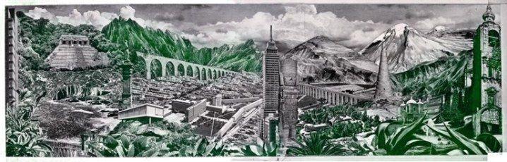 """LOLA ÁLVAREZ BRAVO, """"Valle de México"""" fotomontaje 1950"""