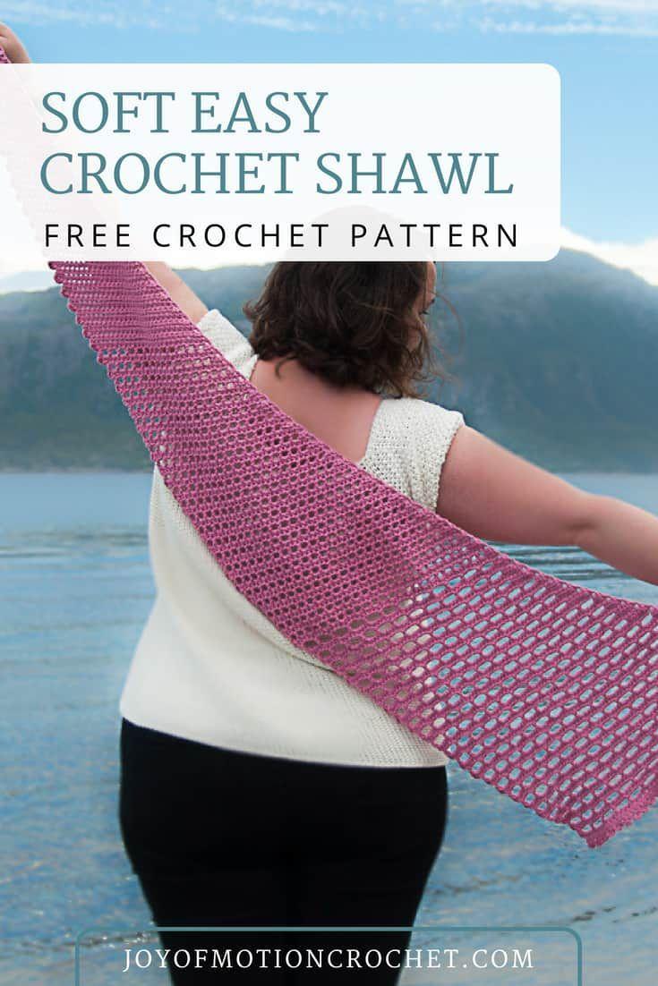Soft Easy Crochet Shawl Free Crochet Pattern Crochet