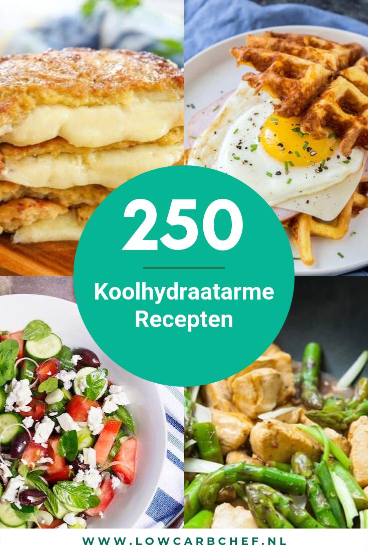 250 Koolhydraatarme Recepten