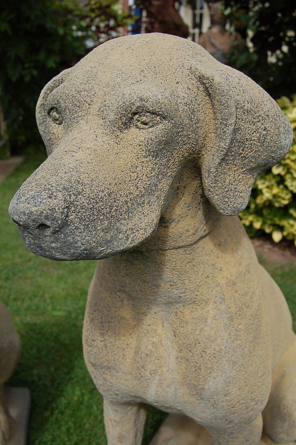 stone statues Pr Stone Pointer Dog Garden Statues Dont Blink