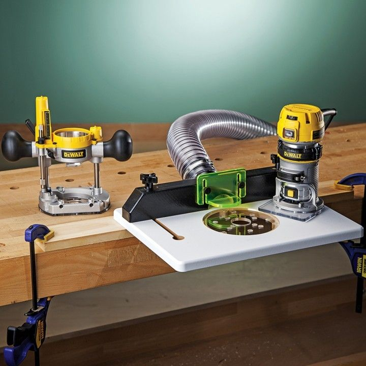 Dewalt dwp611pk compact router with trim router table and dust port dewalt dwp611pk compact router wtrim router table and dust port greentooth Image collections