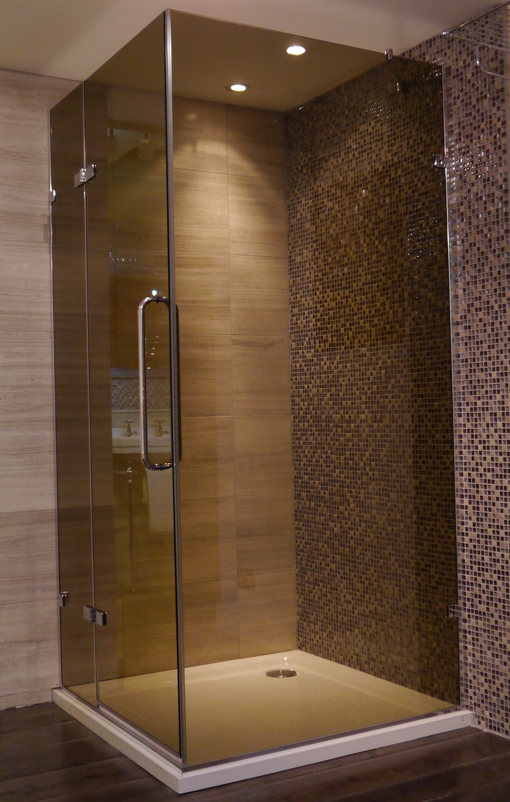 Stunning Simple Shower enclosure, Chocolate glass finish. #shower ...