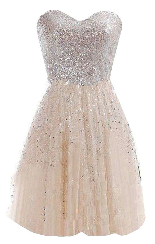 short homecoming dresses 2016 , cheap dress, sparkly dress, simple dress, champagne dress  ♦F&I♦