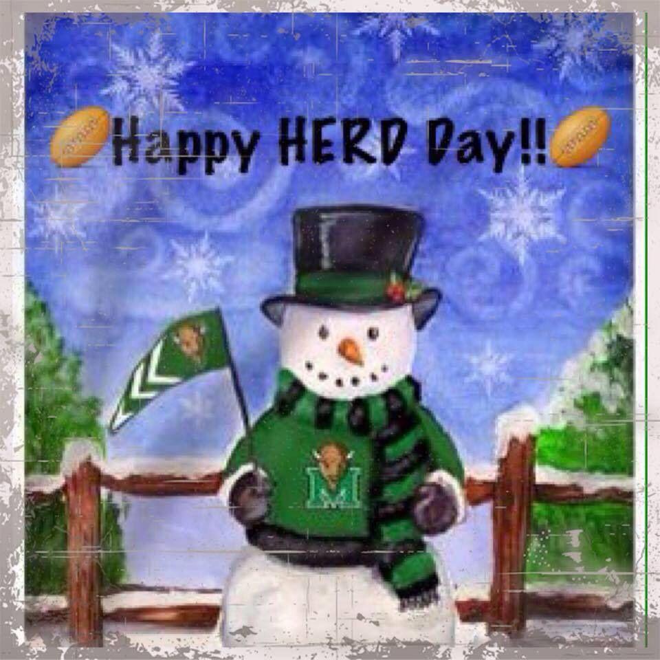 Happy Herddays! College football teams, Marshall