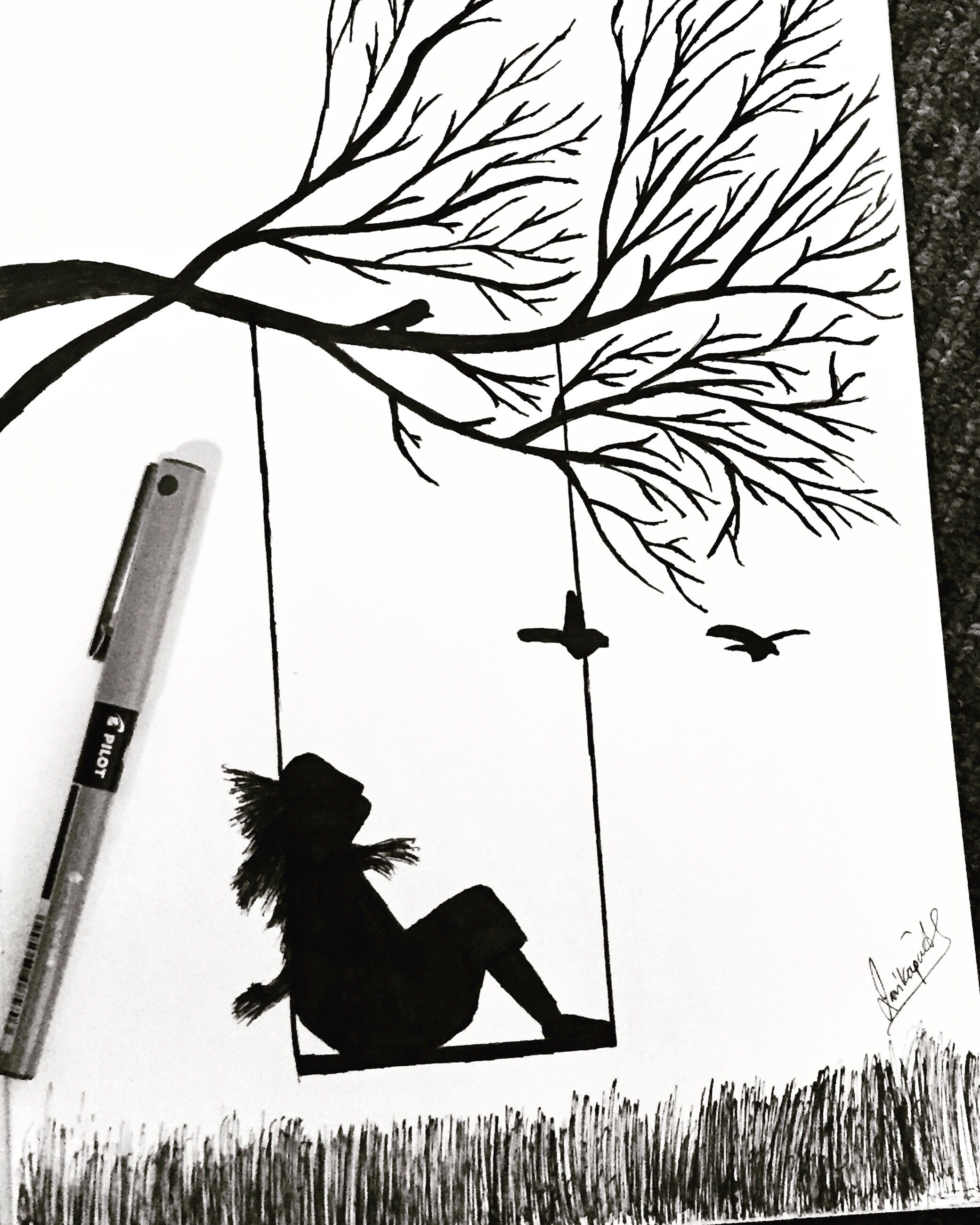 Beautiful Nature Pencil Drawings: #sketch #drawing #artistic #loveforart #creative #swing